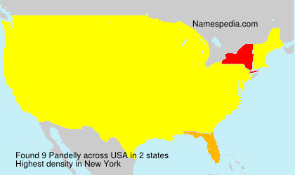 Surname Pandelly in USA