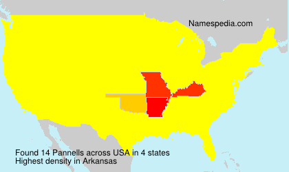 Surname Pannells in USA