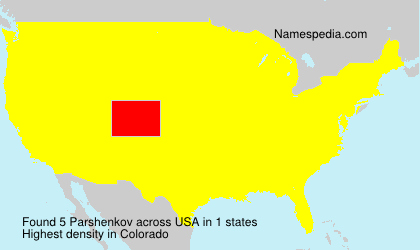 Surname Parshenkov in USA