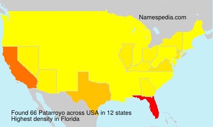 Surname Patarroyo in USA