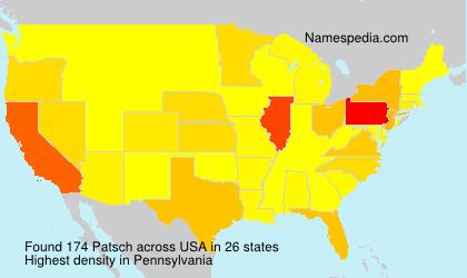 Surname Patsch in USA