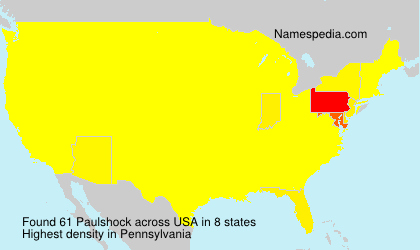 Familiennamen Paulshock - USA