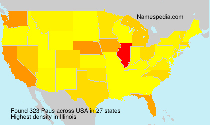 Surname Paus in USA