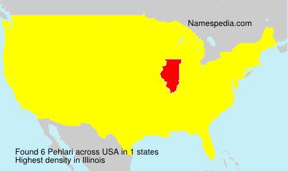 Surname Pehlari in USA