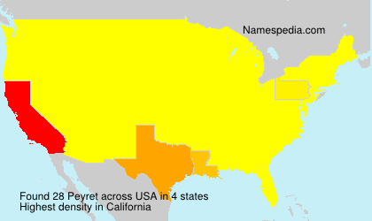 Surname Peyret in USA