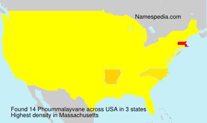 Familiennamen Phoummalayvane - USA