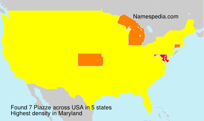 Surname Piazze in USA
