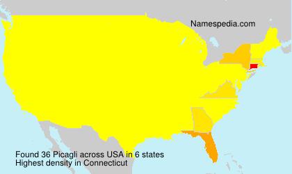 Familiennamen Picagli - USA