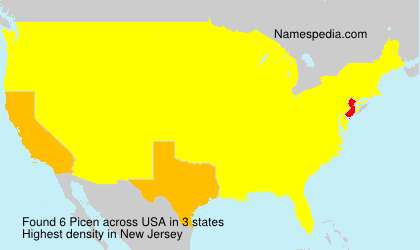 Surname Picen in USA