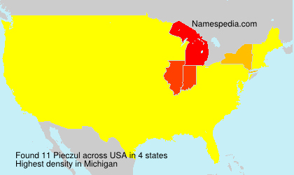Surname Pieczul in USA
