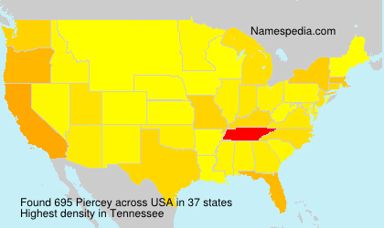 Surname Piercey in USA