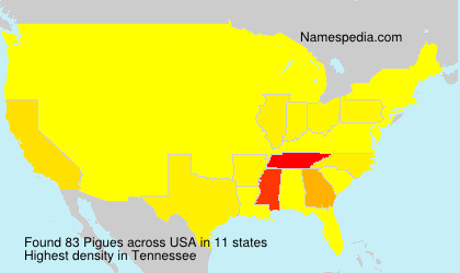 Surname Pigues in USA