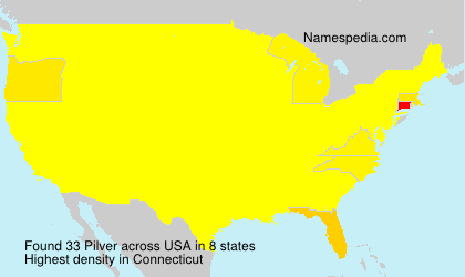 Surname Pilver in USA