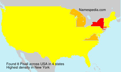 Surname Pisall in USA