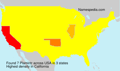 Surname Plamintr in USA