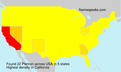 Surname Pleman in USA