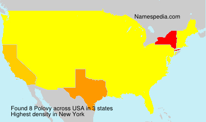 Surname Polovy in USA