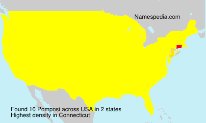 Surname Pomposi in USA