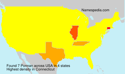Surname Ponnan in USA