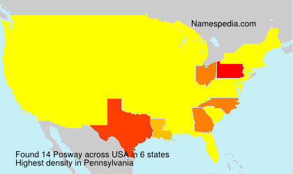 Surname Posway in USA