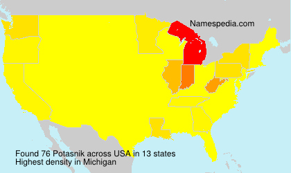 Surname Potasnik in USA
