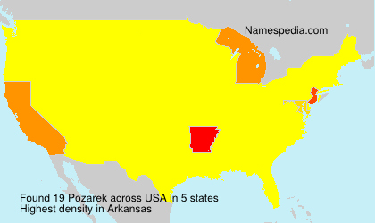 Surname Pozarek in USA