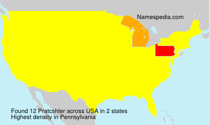 Surname Pratcshler in USA