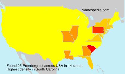 Familiennamen Prendergrast - USA