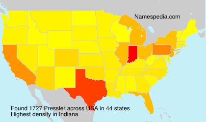 Surname Pressler in USA