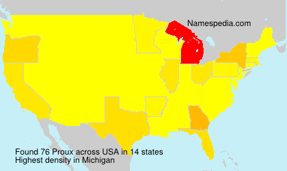 Surname Proux in USA