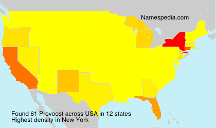 Surname Provoost in USA