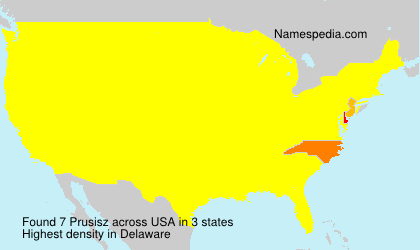 Surname Prusisz in USA