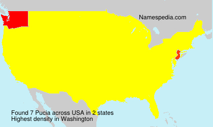 Surname Pucia in USA