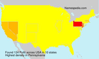 Familiennamen Puliti - USA