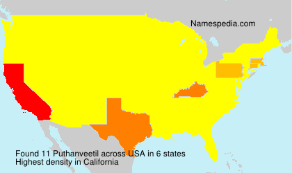 Surname Puthanveetil in USA