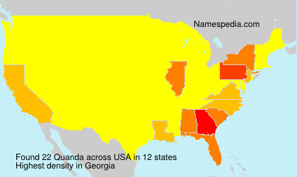 Surname Quanda in USA
