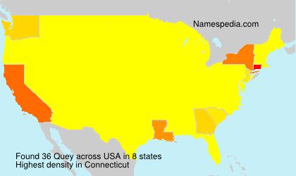 Surname Quey in USA