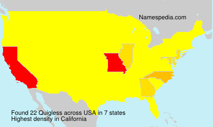 Surname Quigless in USA