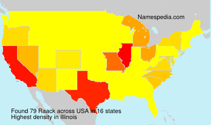 Surname Raack in USA