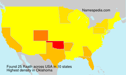 Surname Raath in USA