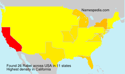 Surname Rabei in USA