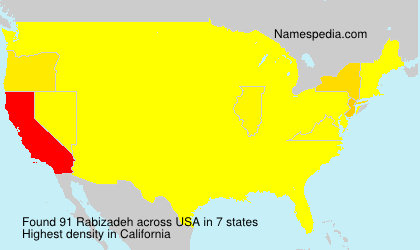 Surname Rabizadeh in USA