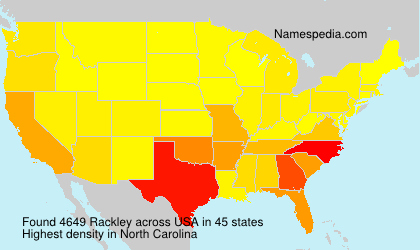 Surname Rackley in USA