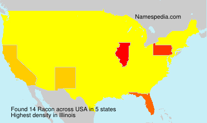 Surname Racon in USA