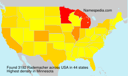 Surname Rademacher in USA