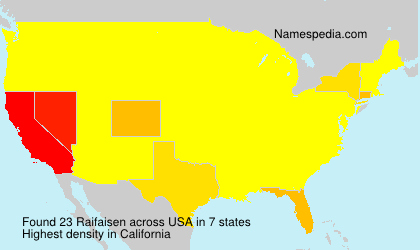 Surname Raifaisen in USA