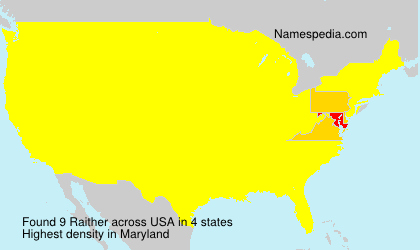 Surname Raither in USA