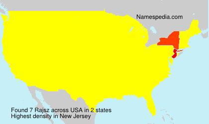 Familiennamen Rajsz - USA