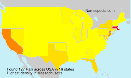 Surname Ralli in USA