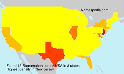 Surname Ramamohan in USA